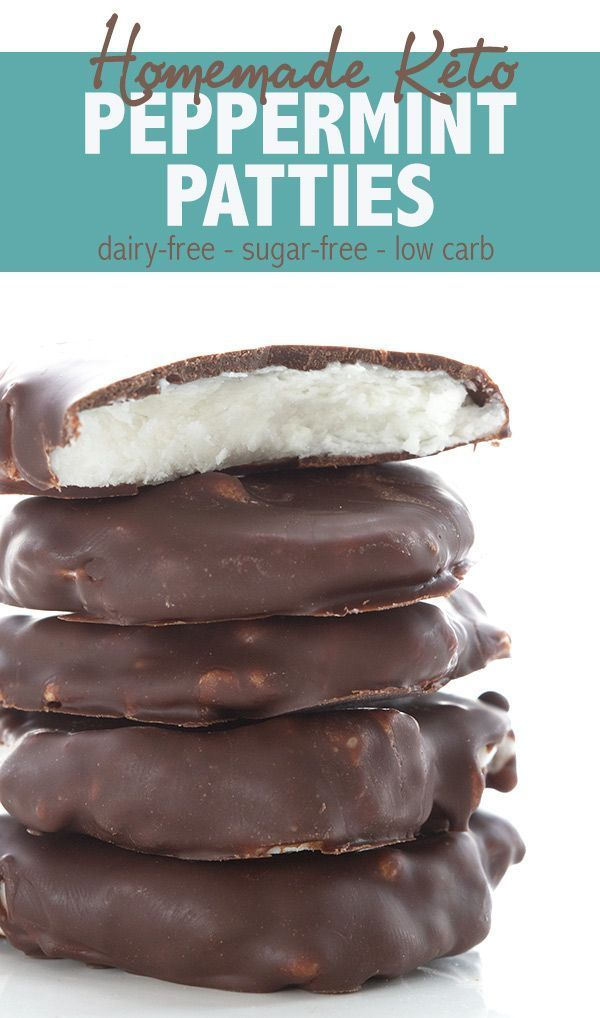 Peppermint Patties - low carb and sugar free. These easy dairy free mint patties are keto friendly, and so minty delicious!Homemade Peppermint Patties - low carb and sugar free. These easy dairy free mint patties are keto friendly, and so minty delicious!