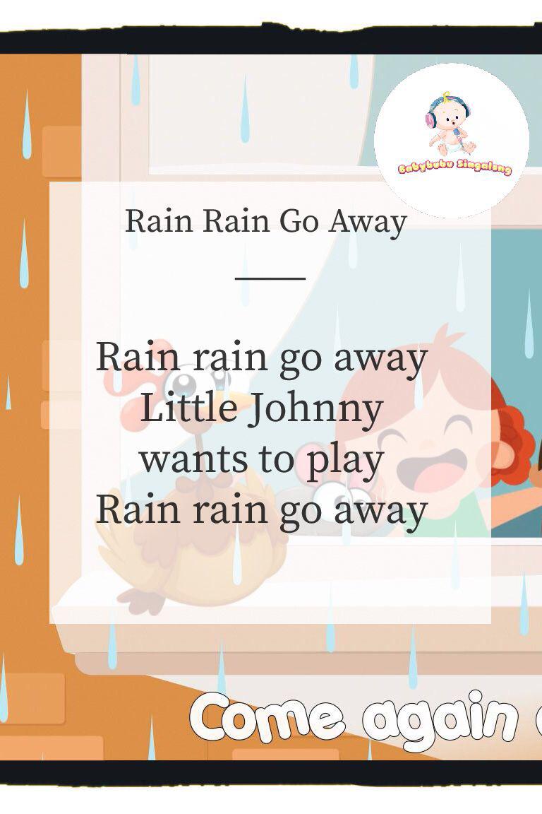 lyrics to rain rain