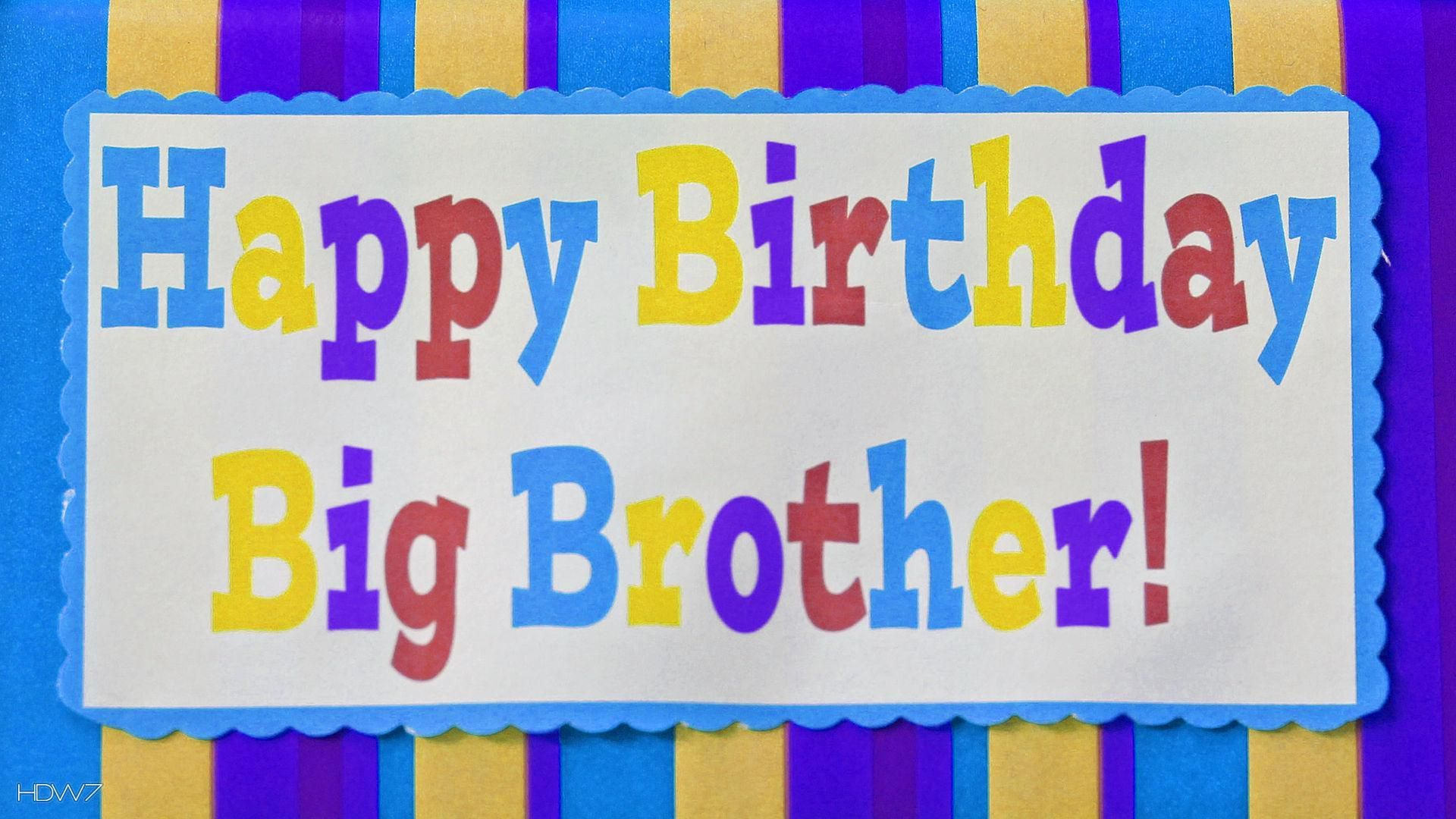 Verjaardag Broer Gedicht Jarig Happy Birthday Brother Happy