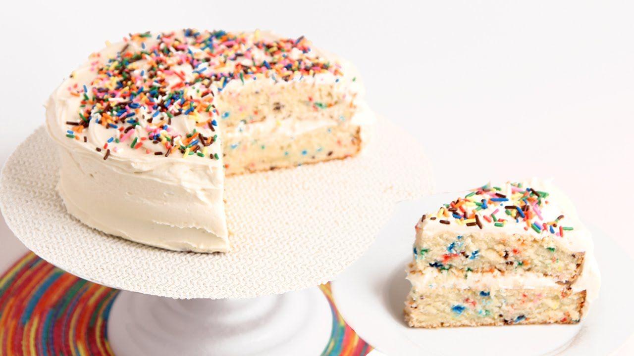 Confetti Birthday Cake Recipe - Laura Vitale - Laura in the Kitchen ...