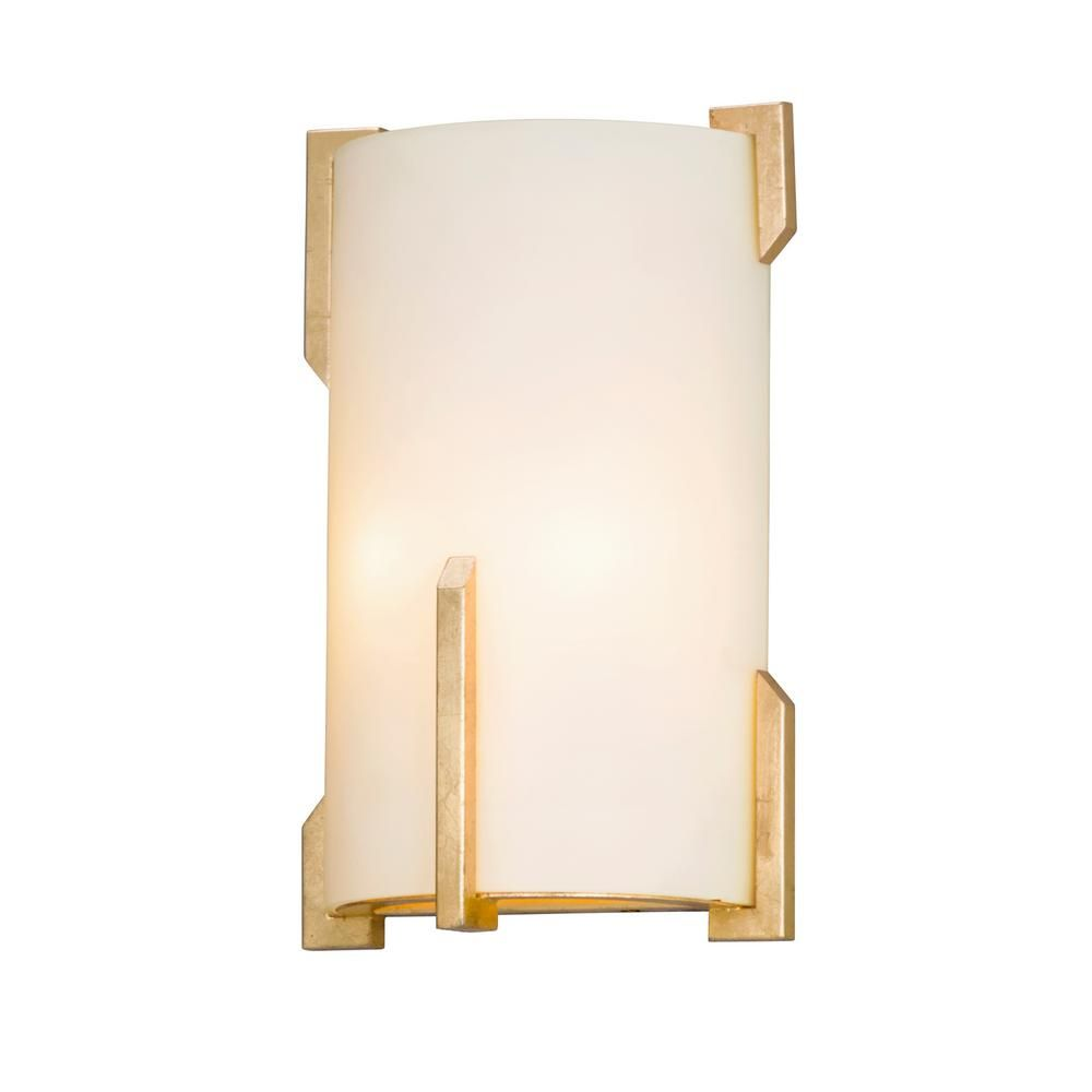 Troy Lighting Quantum 2 Light Gold Leaf Wall Mount Sconce