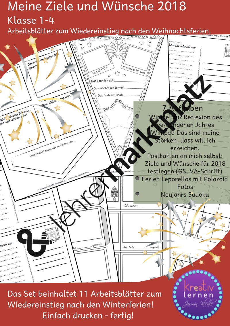 Arbeitsblätter für die ersten Tage nach den Weihnachtsferien – DaZ ...