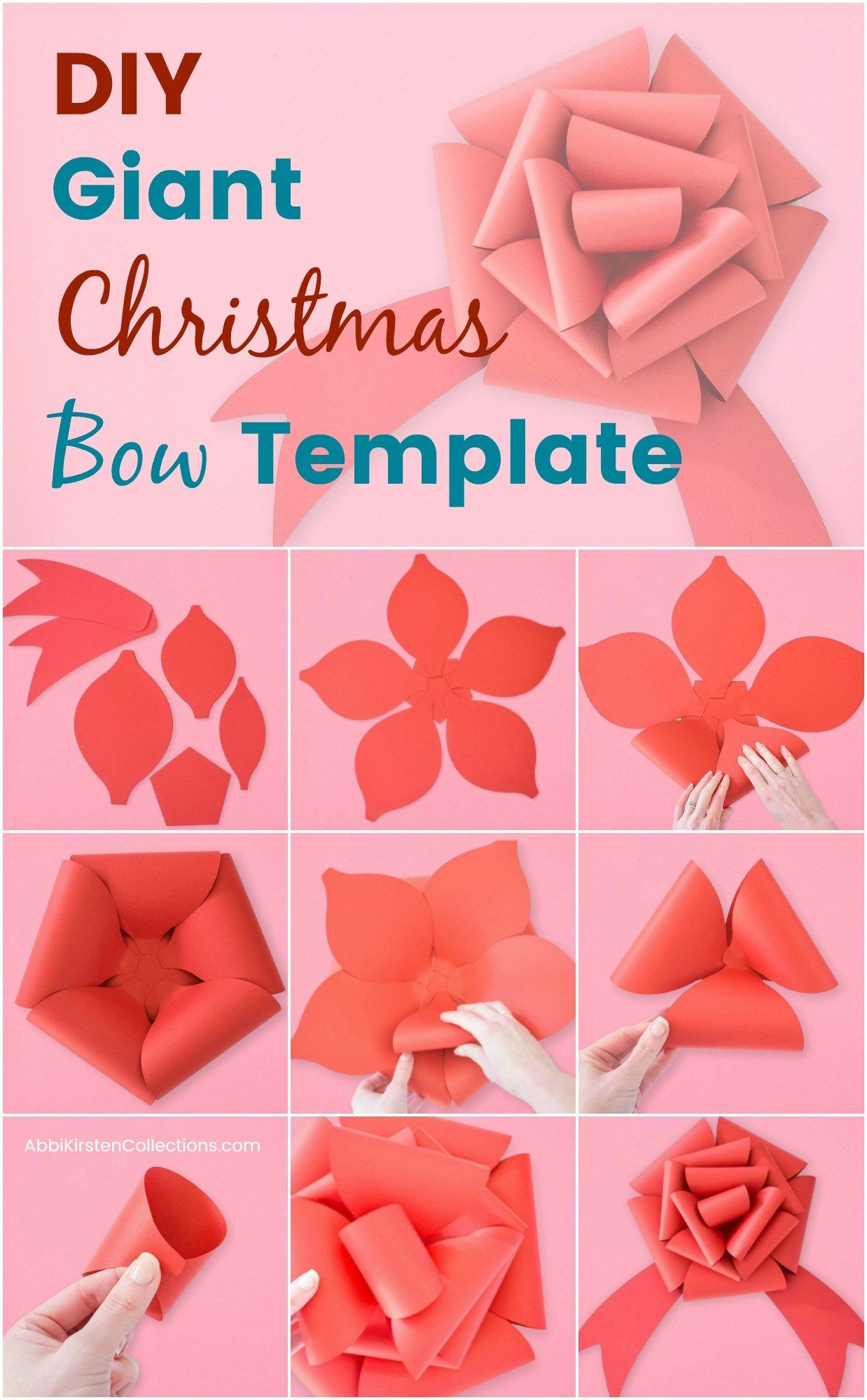 Free Christmas Bow Template Learn How To Craft This DIY Giant Paper Gift