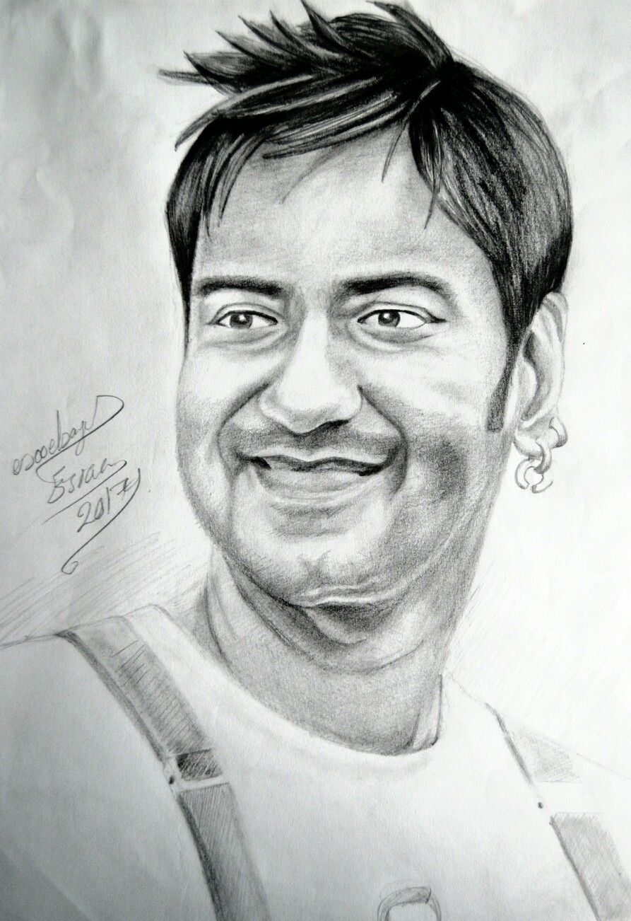 Pencil sketch for ajay devgn actor ajaydevgn indian celebrity aj