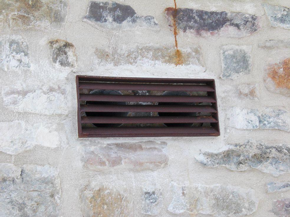 rejilla ventilación en acero corten
