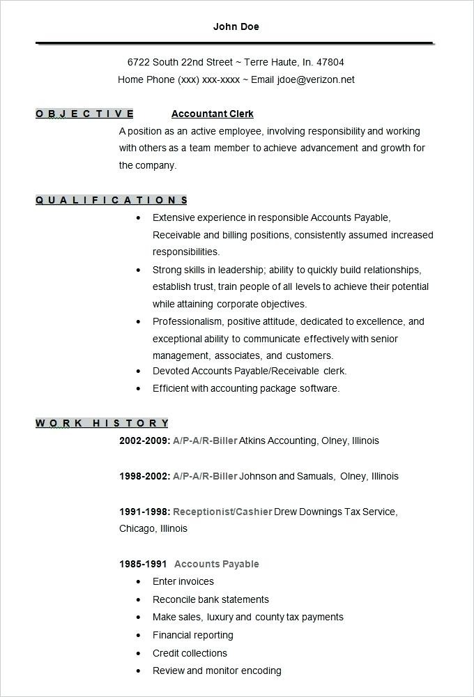 Accountant Resume Format 2019 2020 in 2020 Free resume