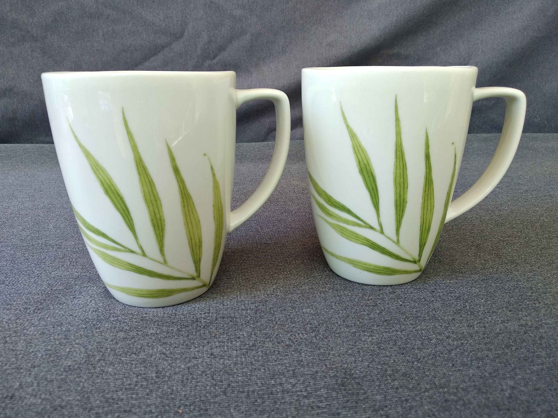 CORELLE COORDINATES Bamboo Leaf 12 oz Porcelain Coffee Tea