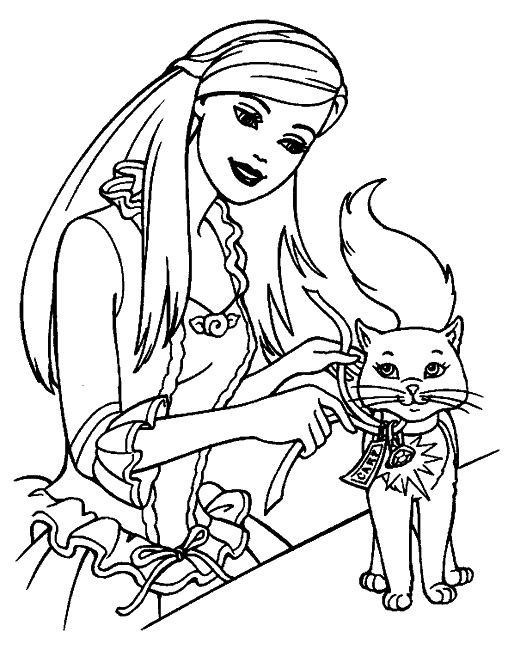 296 coloriage princesse jeu barbie coloring pages - Dessin anime barbie princesse ...