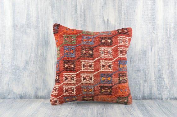 Anatolian Kilim Pillow 16x16 Pillow Case Bohemian Kilim Pillow Decorative Throw Pillow Home Decor Kilim Cuhsion Cover Sofa Pillow  Anatolian Kilim Pillow 1616 Pillow Case...