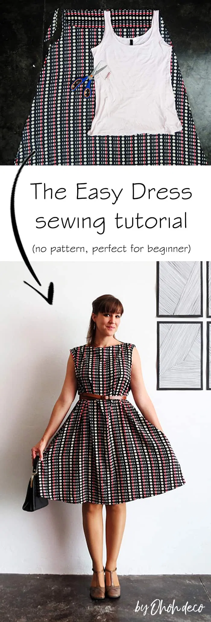 The easy dress sewing tutorial - Ohoh deco