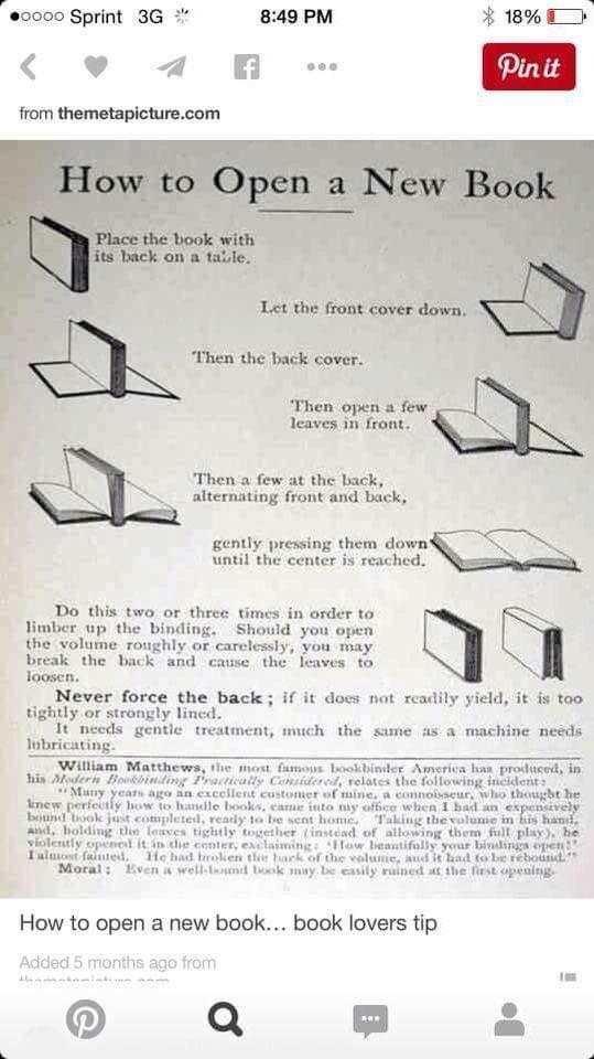 Cómo abrir un libro