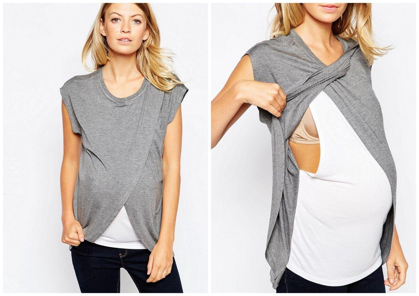 2b8eb31e3 Ocho camisetas de lactancia (bonitas y cómodas) que te facilitan dar ...