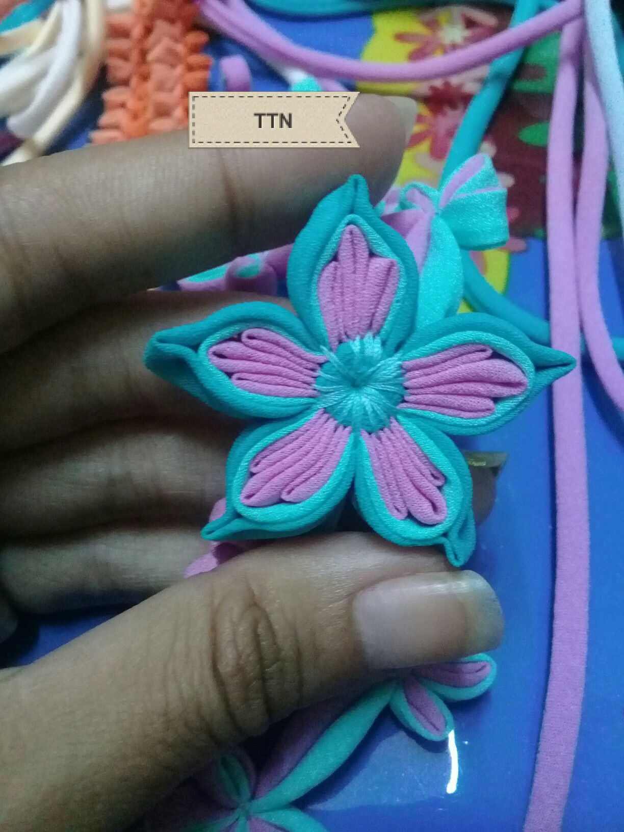 By Thaw Thaw Nyein Button flowers, Chinese flowers, Handmade