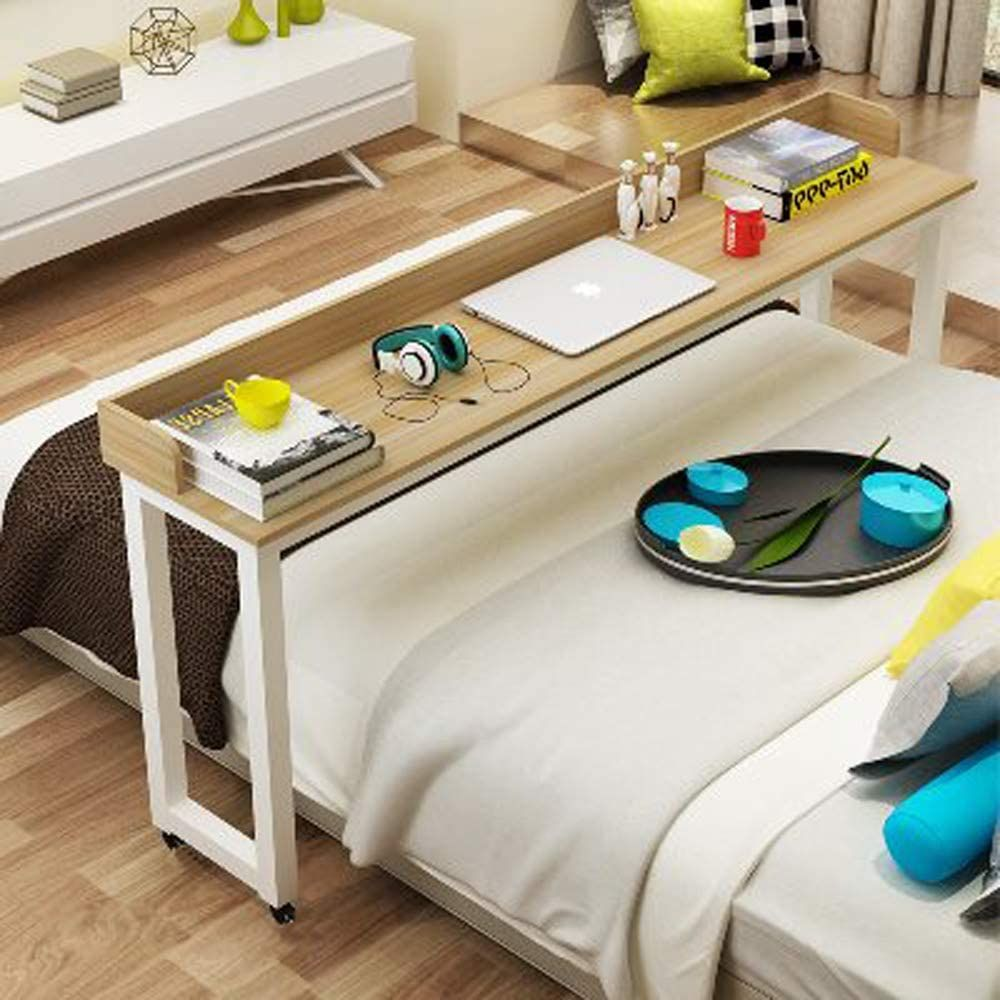 KOMOREBI Overbed Table with Wheels Rolling Bed Table Over