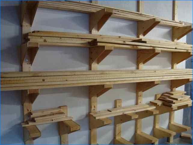 Metal Lumber Storage Rack