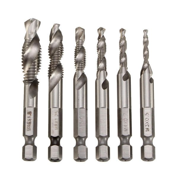 Straight Shank Metric Combination Bits Countersink Deburr Set HSS Twist Drill