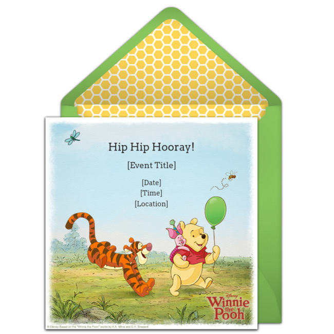 Free Winnie The Pooh Invitations Pooh Invitation Custom Birthday Invitations Winnie The Pooh Birthday