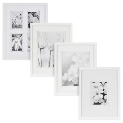 Buy Real Simplea White Wall Frame With White Double Mats For 10 Inch X 13 Inch Photo From Bed Bath Beyond Frames On Wall White Wood Wall Wood Wall