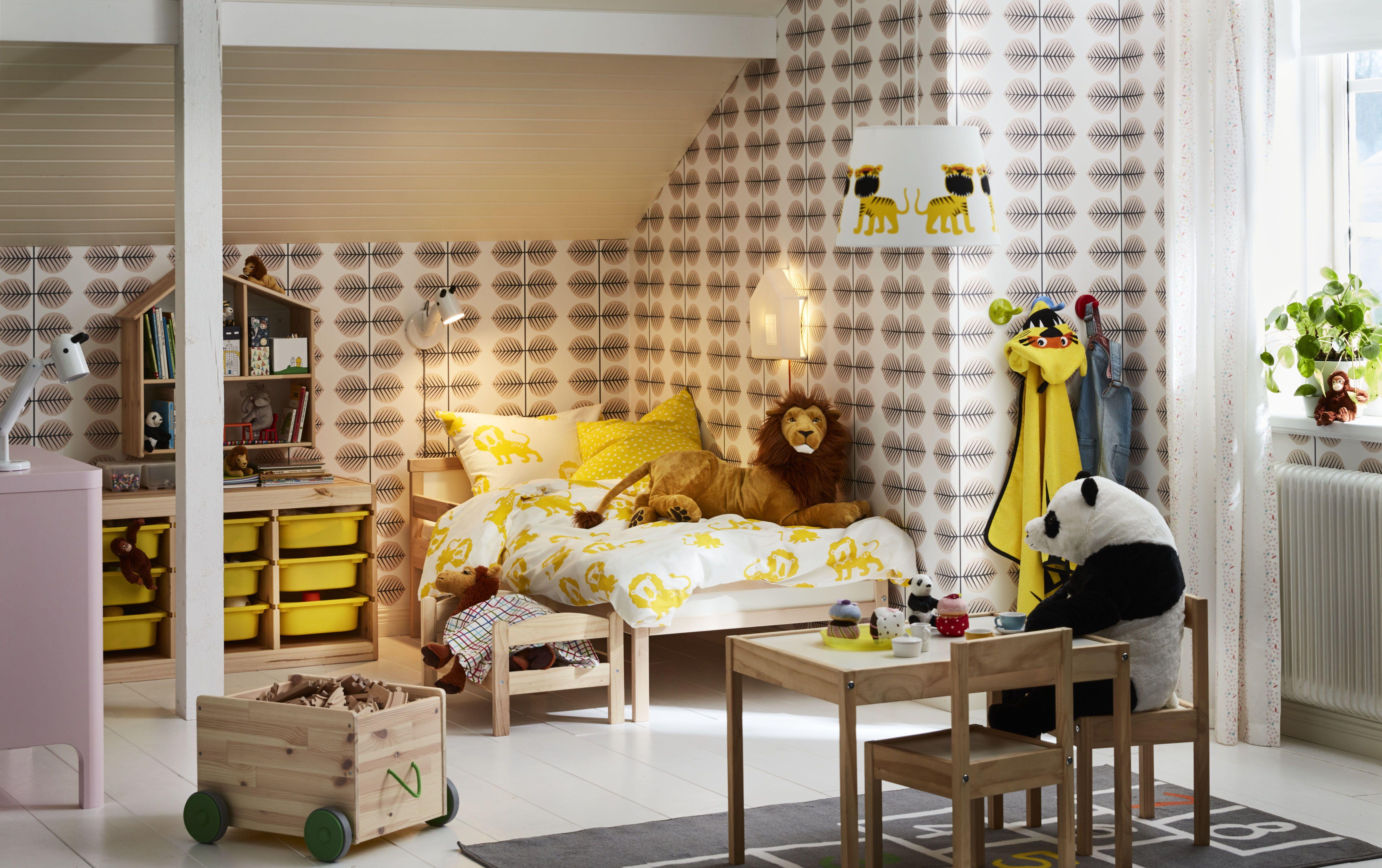 Briljant Lampje Kinderkamer : Djungelskog dekbedovertrek ikea ikeanl ikeanederland inspiratie