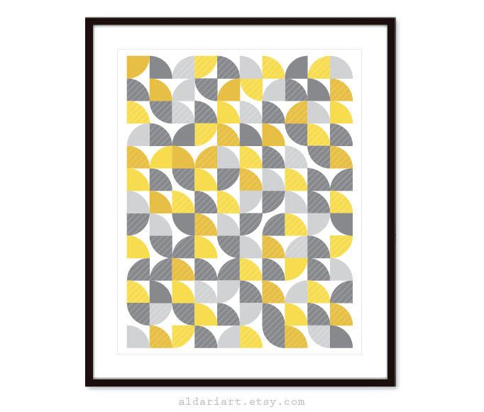 Geometric Print - Mid Century Wall Art - Mid Century Home Decor ...