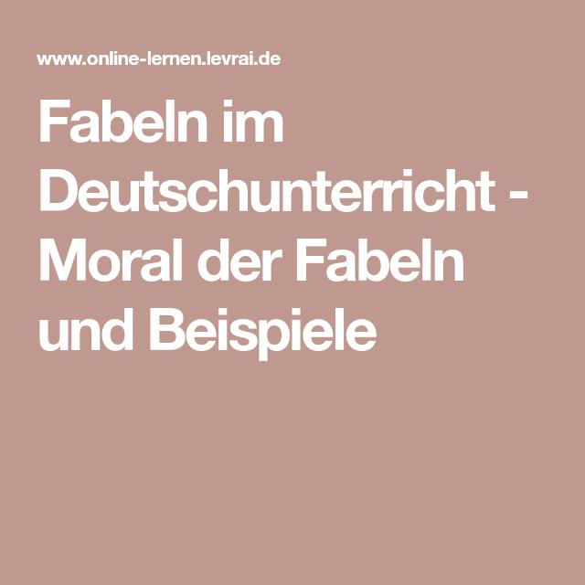Fabeln im Deutschunterricht - Moral der Fabeln und Beispiele ...