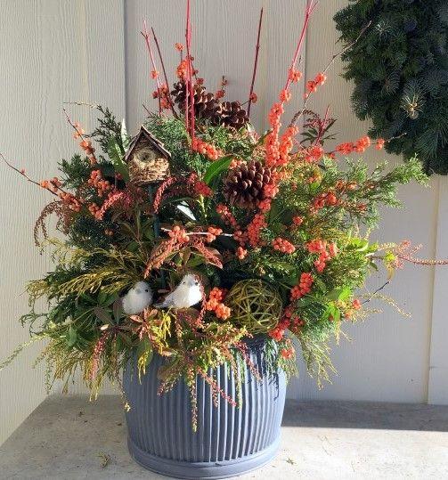 8 Stunning Container Gardening Ideas: Design A Beautiful Bird-Friendly Winter Container Foraged