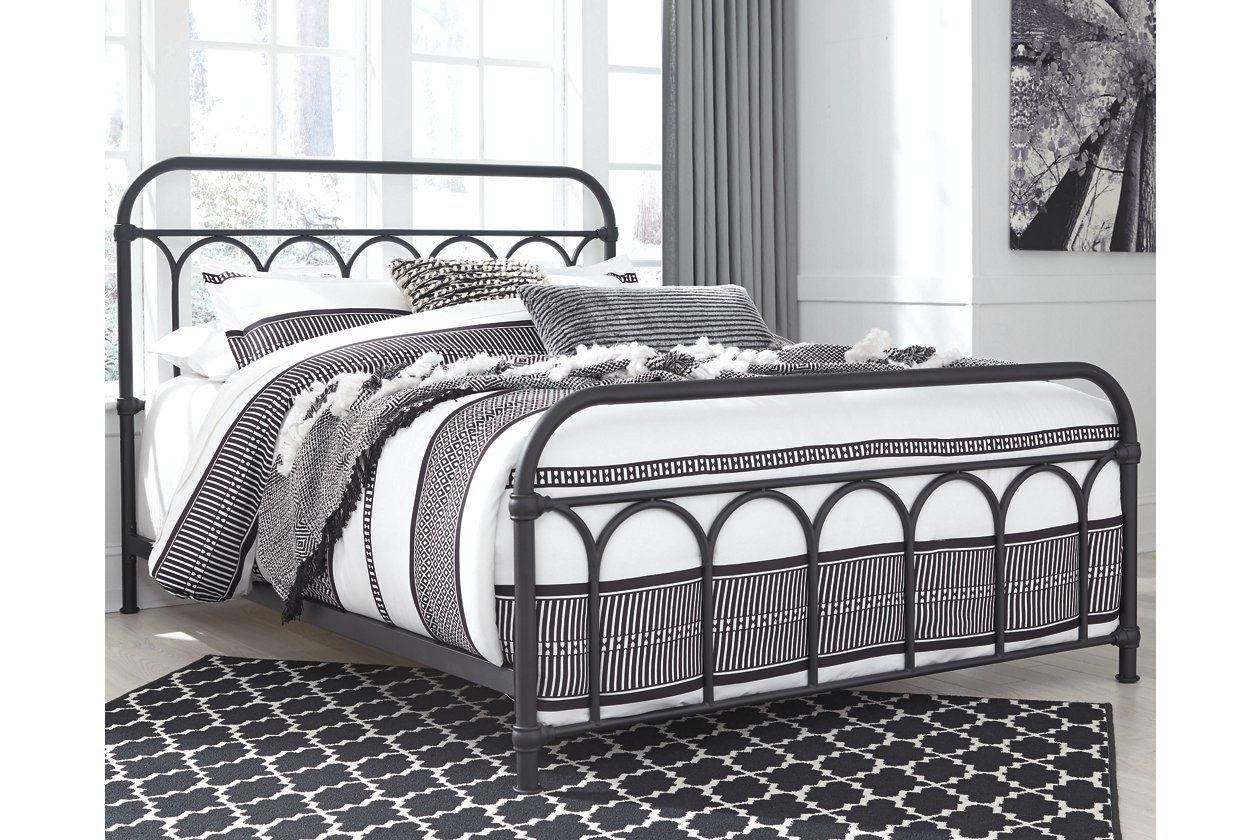 Nashburg Queen Metal Bed Queen Metal Bed Black Metal Bed Frame