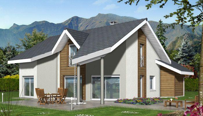 Plan de maison contemporaine Arcalod construire maison Pinterest