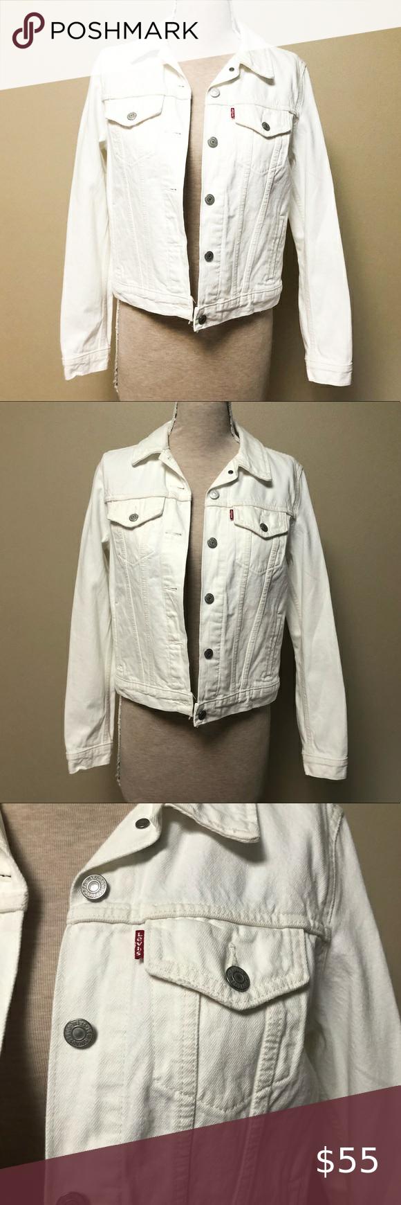 Levis White Jean Jacket Nwot Light Wash Denim Jacket Lined Denim Jacket Premium Denim Jeans [ 1740 x 580 Pixel ]