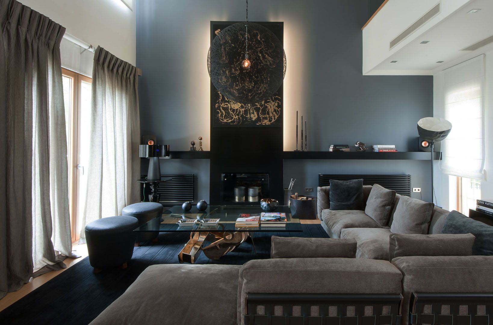 An Athens Home Showcases Dark And Moody Interiors Home Library