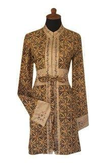 Tunik Batik Kombinasi Contekan Baju