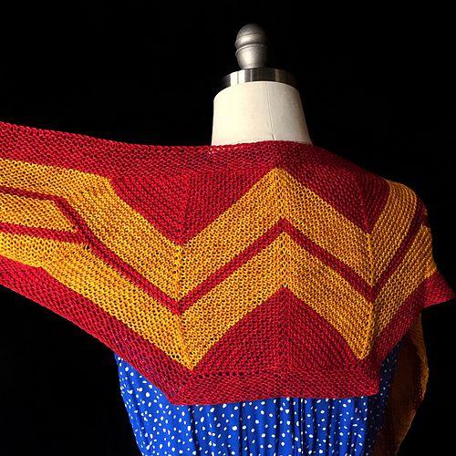 Ravelry: Wonder Woman Wrap (knit) pattern by Carissa ...