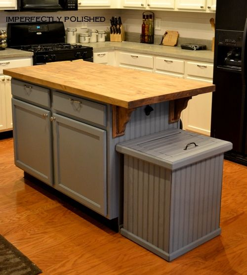 Great Way To Hide Plastic Garbage Can For The Home In