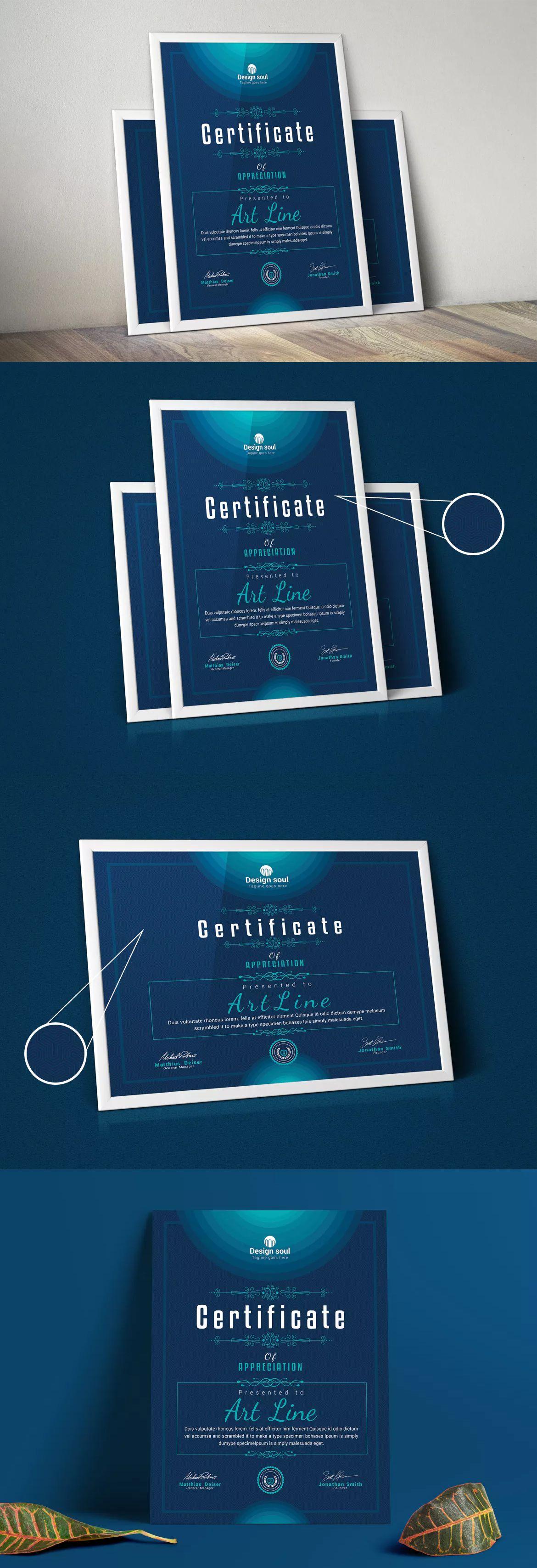 Simple Multipurpose Certificates Template Psd Certificate