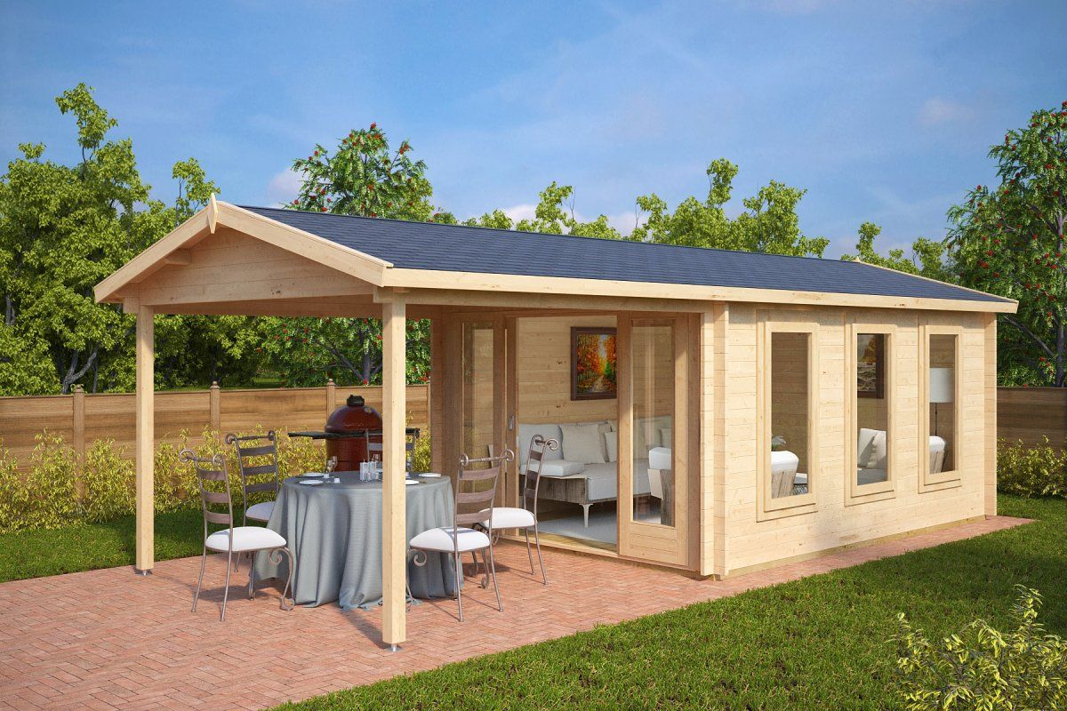 garden summer house with canopy eva e - Garden Sheds With Veranda