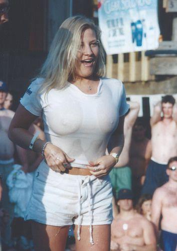Chubby wet t shirt