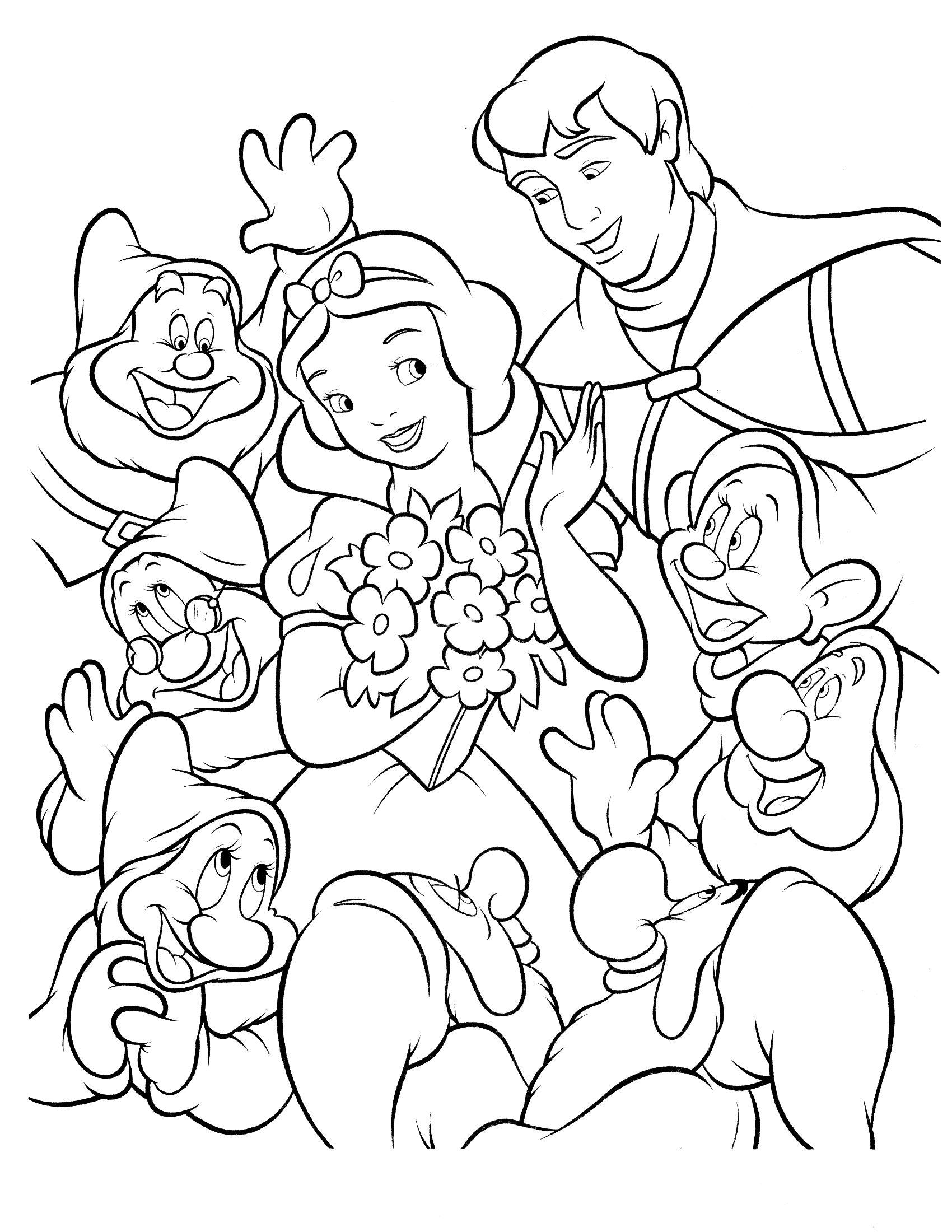 Snow White Coloring Page 16 Jpg 1700 2200 Disney Kleurplaten Sneeuwwitje Kleurplaten