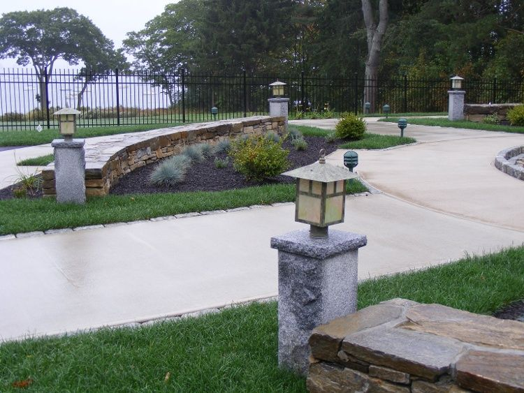 9 Ways To Light Up Your Landscape With Granite Lamp Posts Lamp Post Landscape Lighting Outdoor Lighting