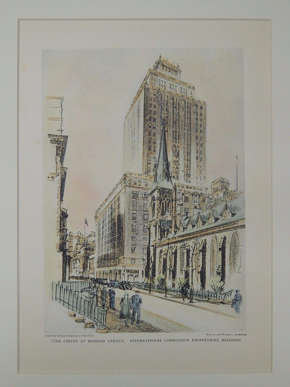 Original Plan Hand Colored Sherman /& Fonneman Vintage Illustration Architecture Florida 1896 Architects Armory Jacksonville
