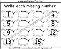 Missing Numbers – 1-15