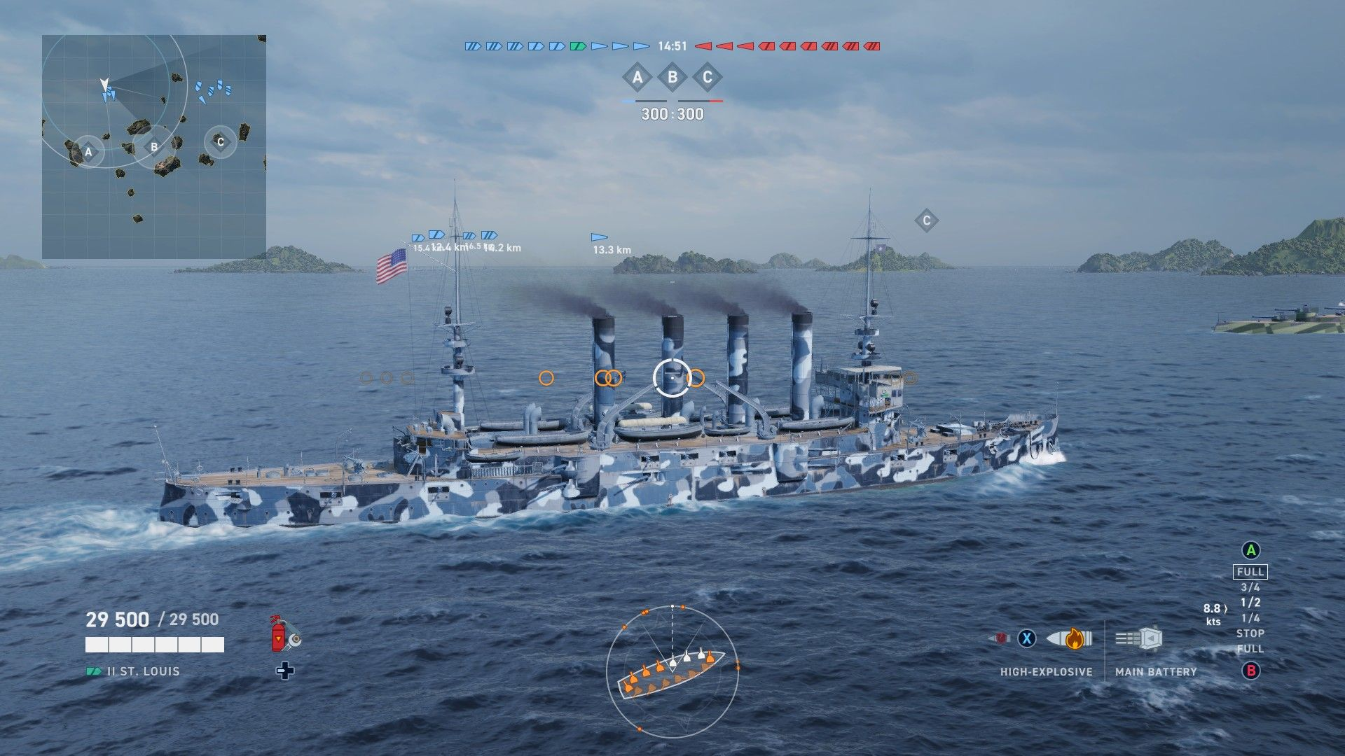 World of Warships Legends - Xbox One - EINRIB13 - USA tier 2
