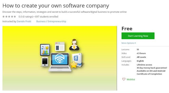 coupon udemy how to create your own software company free