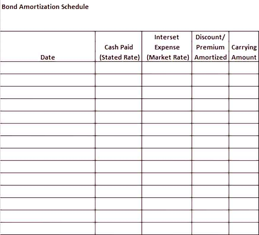 Sample Amortization Schedule Excel Template
