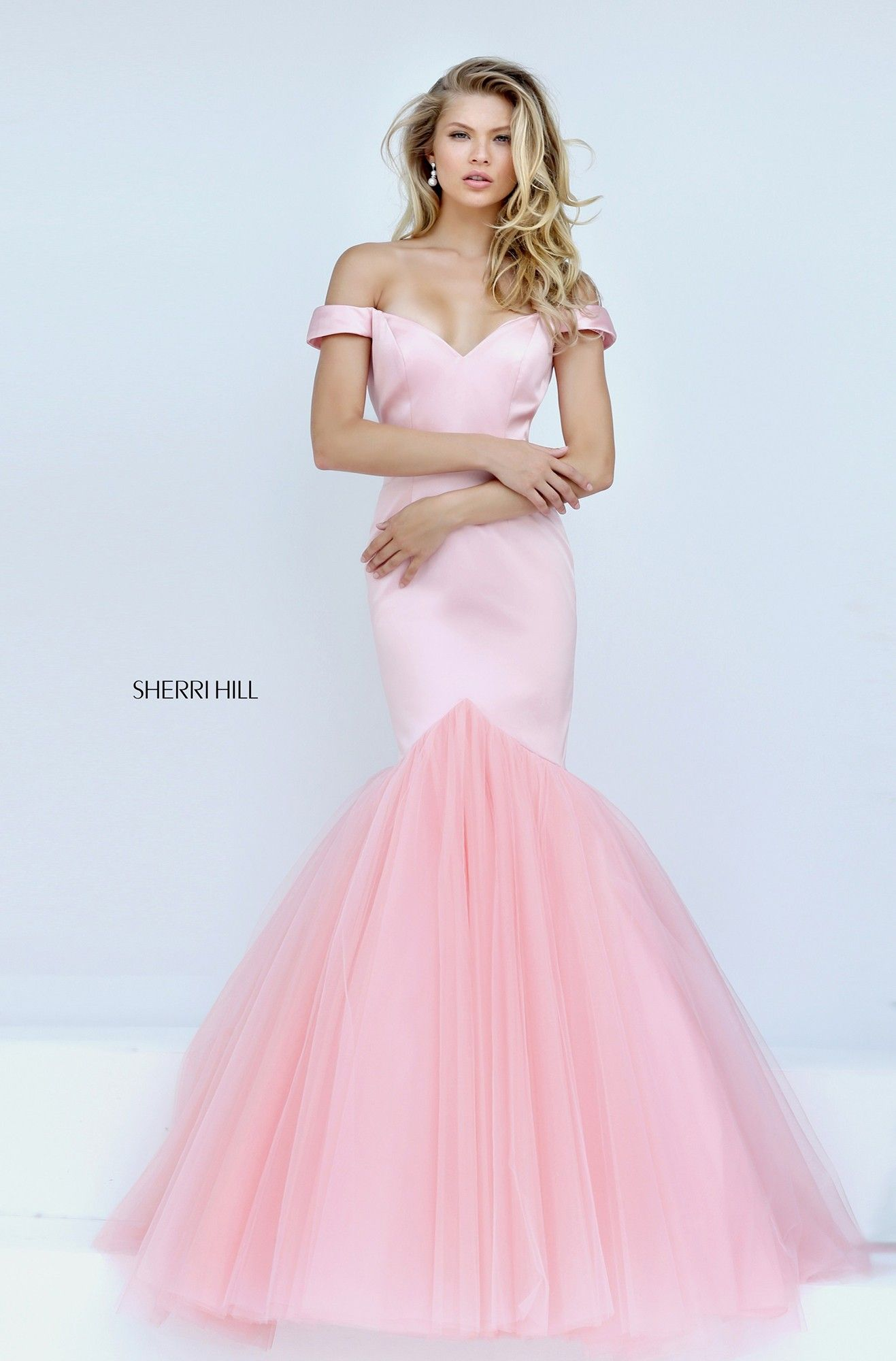 Sherri Hill 50732 Off Shoulder Mermaid Gown
