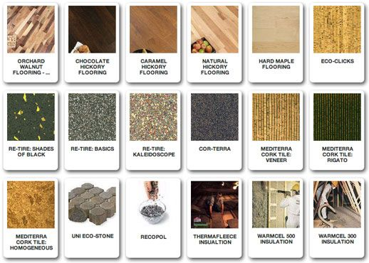 Different Types Of Flooring And Building Materials Web Image