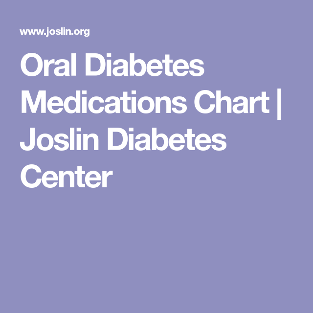 diabetes medications chart