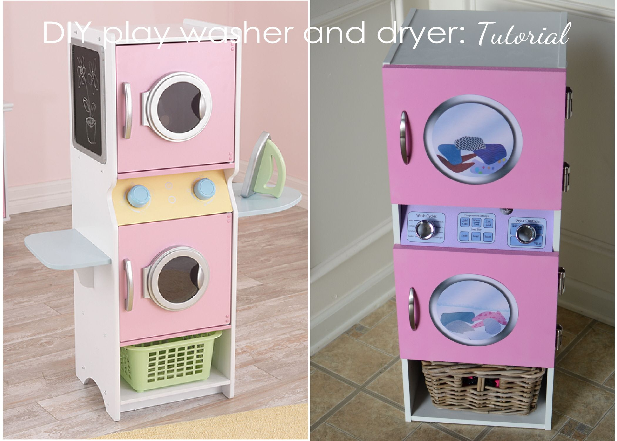tutorial} a play washer and dryer for my daughter