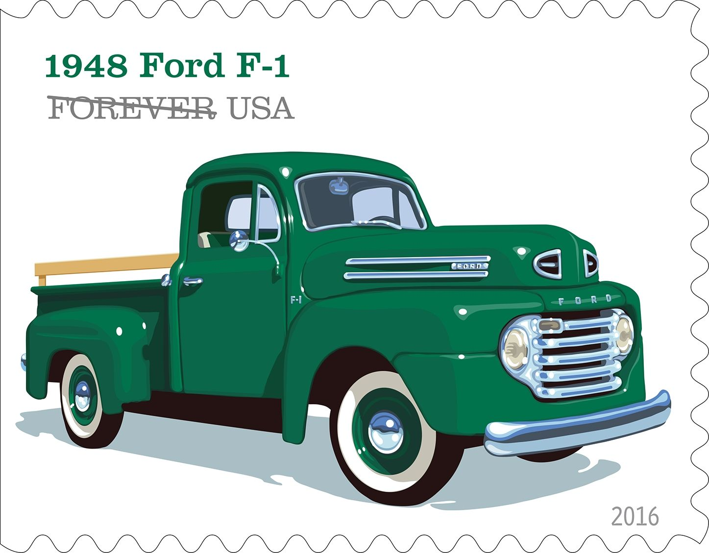 U S Postal Service Unveils Truck Stamp Designs Vintage Pickup Trucks Classic Ford Trucks