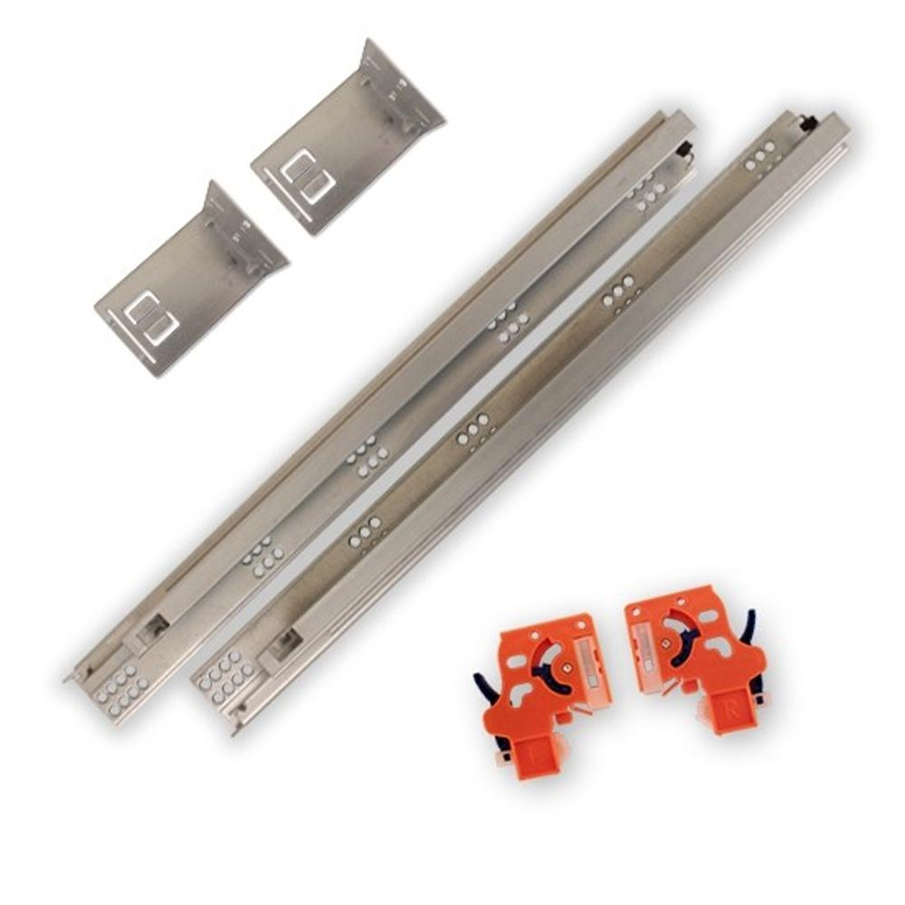 Csh 21 In Soft Close Full Extension Undermount Drawer Slides Kit 39 3300 21 The Home Depot Soft Close Drawer Slides Drawer Slides Soft Close Drawers