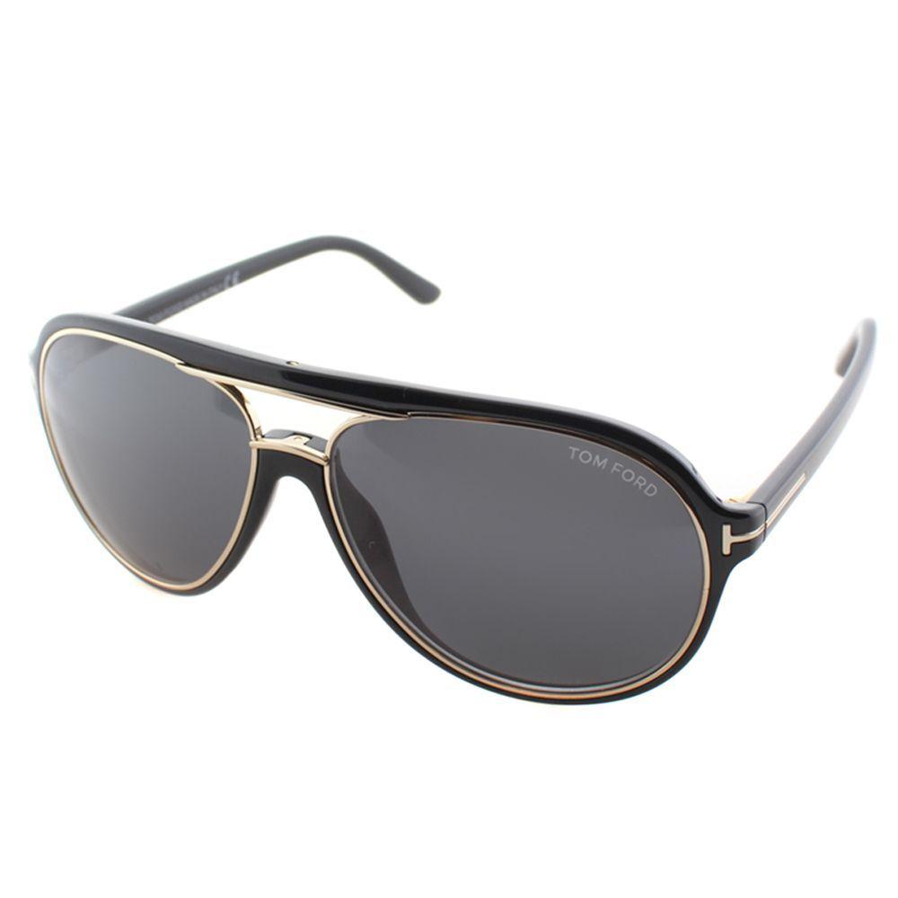 ed2010e28e74a Tom Ford Unisex TF 379 Sergio 01A Shiny And Gold Aviator Sunglasses ...